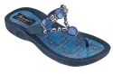 Grandco Denim Beaded Thong Sandal