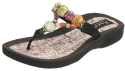 Grandco Marble Cork Women's Beaded Thong Sandal