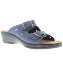 Decca Women's Slide Leather Sandal by Flexus