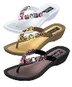 Grandco Rainbow Women's Beaded Thong Sandals