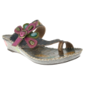 Santorini Toe-Loop Women's Leather Sandal by Spring Step
