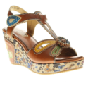 Socialite Ankle T-Strap Platform Leather Sandal L'Artiste Collection