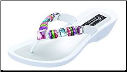 Grandco Sandals - Rainbow Multi-Color Beaded Thong Sandal
