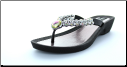 Grandco Sandals - Rhinestone Beaded Thong Sandal