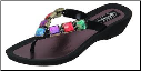 Grandco Sandals - Stained Glass Colorful Squares Beaded Sandal
