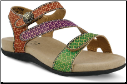 Novato Womens Leather Adjustable Sandal