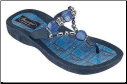 Grandco Sandals - Denim Beaded Thong Sandal