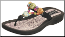 Grandco Sandals - Marble Cork Colorful Beaded Thong Sandal