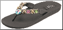 Grandco Sandals - Cats Eye Beaded Thong Sandal