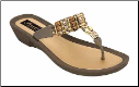 Grandco Sandals - Imperial Beaded Triple Band Thong Sandal