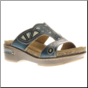 Softstep Leather Slide Sandal Artistic Mayan Design by Spring Step L'Artiste Collection