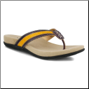 Turnberry Leather Thong With Padded Footbed
