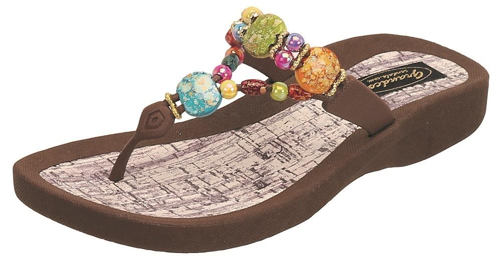 4b620df33f49b ... Colorful Beaded Thong Sandal. Grandco Marble Cork Black Grandco Marble  Cork Brown