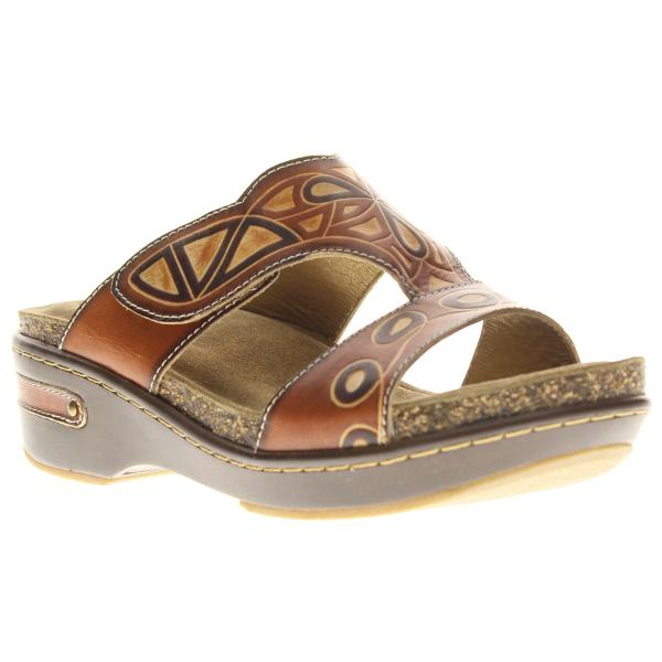 44ec384ffb3b Softstep Leather Slide Sandal Artistic Mayan Design by Spring Step L ...