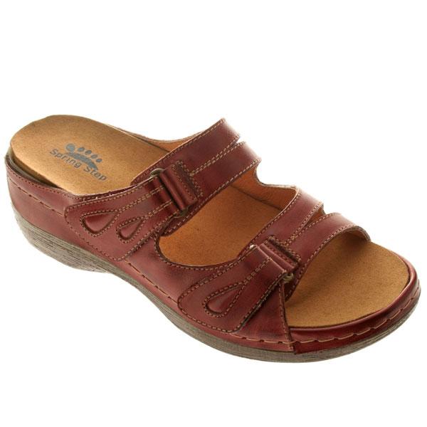 Sunshine Women's Leather Sandal Medium Brown Sunshine Women's Leather Sandal  Bordeaux ...